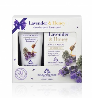 Подаръчен комплект Lavender and Honey Българска роза Карлово