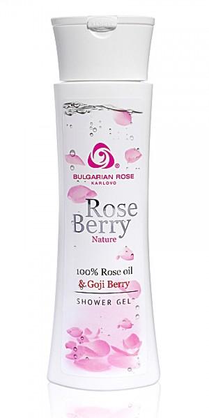 Ексфолиращ душ гел за тяло Rose Berry Nature Българска Роза Карлово