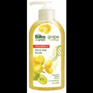 Овлажняващ гел-скраб за лице Bilka Grape Energy Hialuron +
