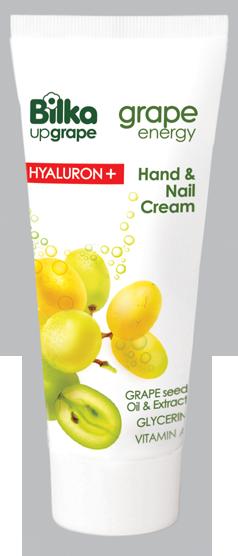 Хидратиращ крем за ръце и нокти Bilka Grape Energy Hialuron +