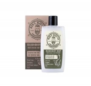 Освежаващ сапун за коса и тяло с водорасли и мента Men's Master Professional