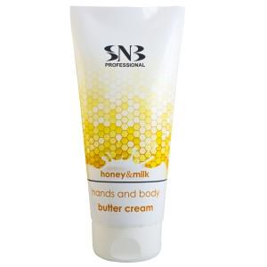 Бутер крем за ръце и тяло с мед и мляко SNB