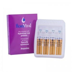 Стимулант за коса с хидролизирани оризови протеини FloryVital