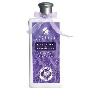Релаксиращ душ гел с органично лавандулово масло Leganza Rosa Impex