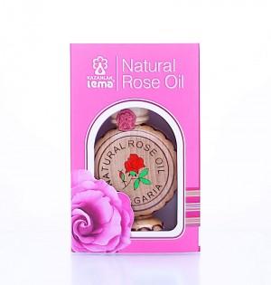 Натурално българско розово масло в дървена обшивка Lema