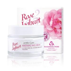 Успокояващ крем за лице с розово масло и йогурт Rose & Joghurt Българска Роза Карлово