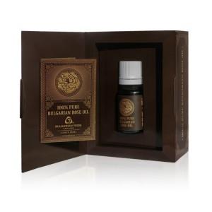 Натурално розово масло в картонена кутийка Българска Роза Карлово