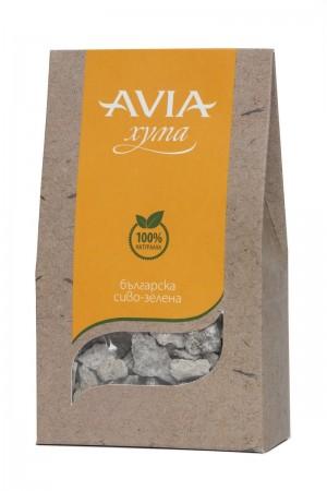 Натурална българска сиво-зелена хума на буци Avia